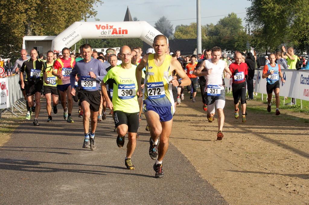 Départ du 17km.  Lionel Ribeiro prends la tête de la course pour ne plus la quitter